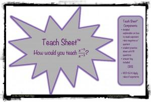 teach sheet - exponent
