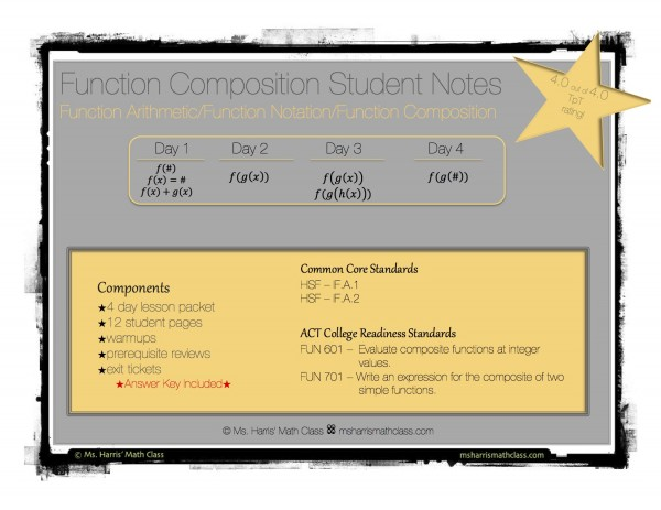 function composition notes cover