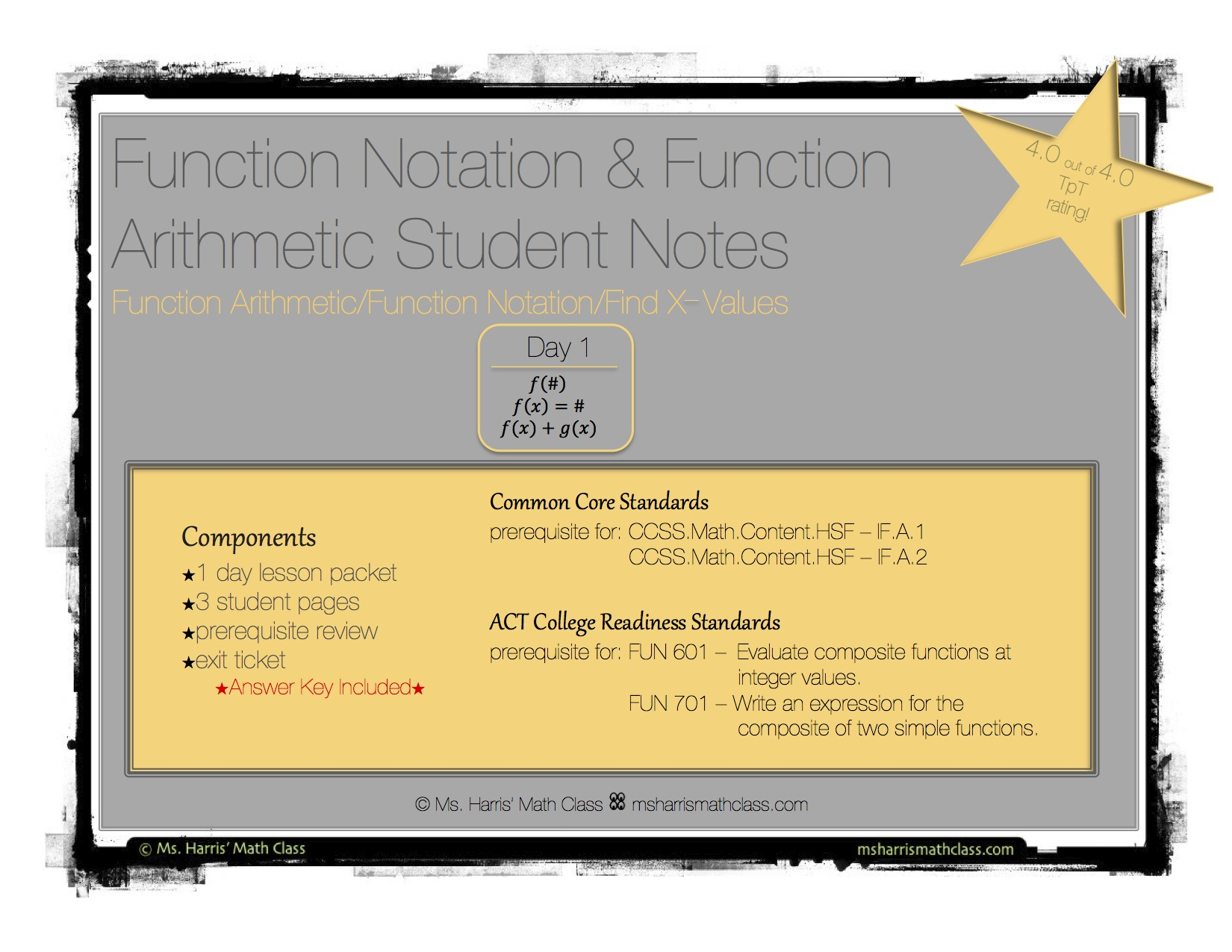 worksheet Function Notation Worksheet With Answers function notation arithmetic interactive student notes