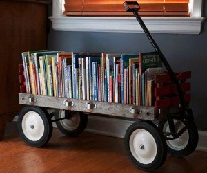 wagon bookshelf