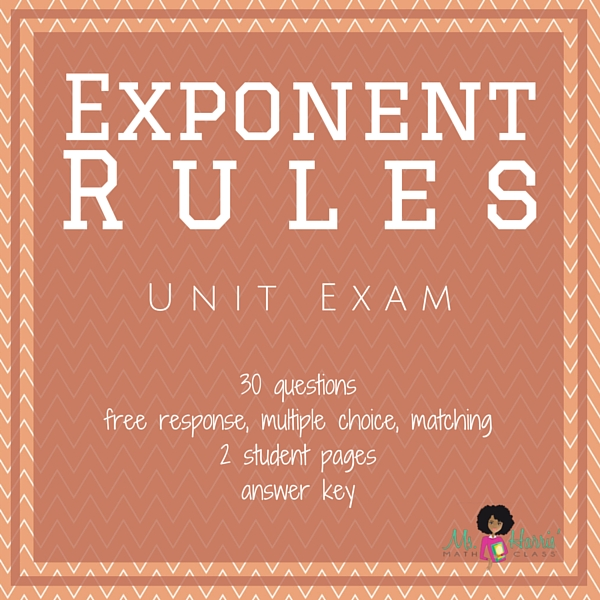 Exponent Rules | Unit Test