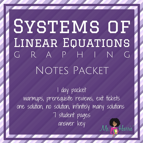 Systems of Linear Equations: Graphing | Notes Packet