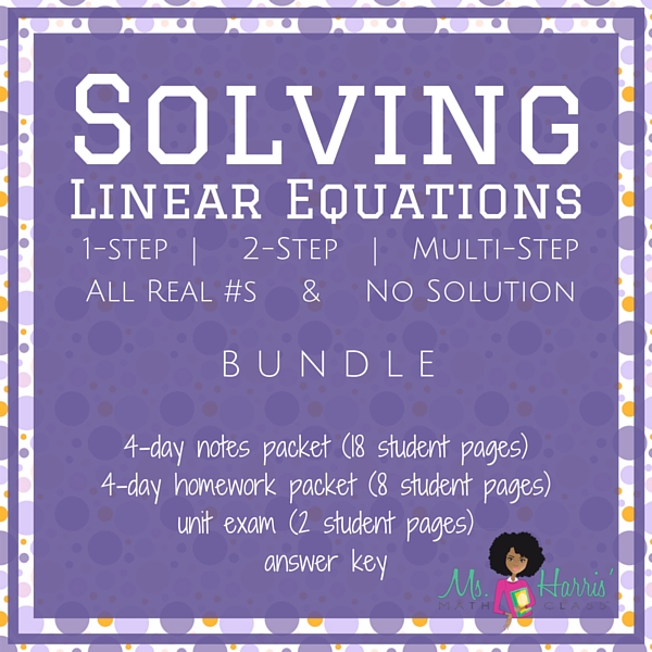 Solving Linear Equations : Unit Bundle