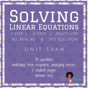 Solving Linear Equations: Unit Test