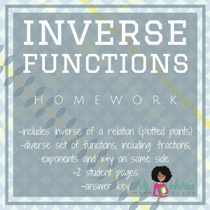Inverse Functions | Homework