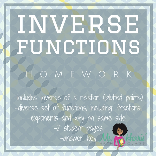 inverse functions homework pdf. Black Bedroom Furniture Sets. Home Design Ideas