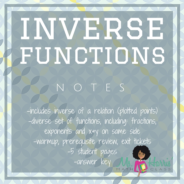 Inverse Functions | Notes