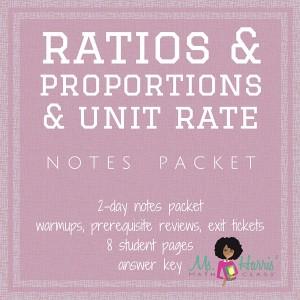 Ratios, Proportions & Unit Rate | Notes